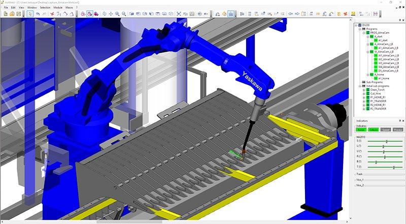 Almacam weld programmazione offline